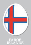 sticker flag of Faroe Island in form of easter egg