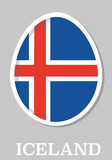 sticker flag of Iceland in form of easter egg