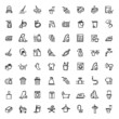 vector black cleaning icons set - 62176098