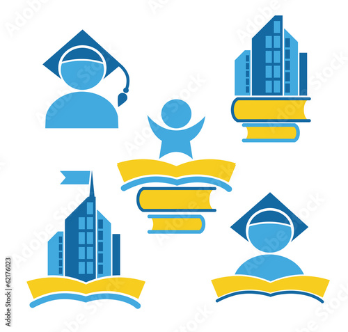 education in university, vector collection