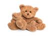 Familie Bär: Mutter und Kind Teddybär isoliert auf Weiß