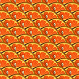 orange slice hand draw pattern