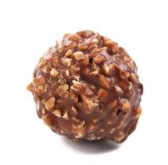 Round chocolate bonbon.