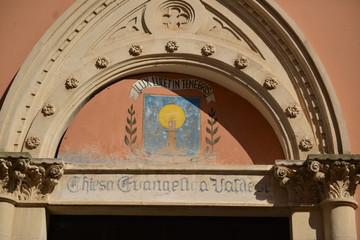 Arco entrata della chiesa evangelica Valdese di Brindisi