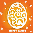 Happy Easter egg openwork appliques postcard