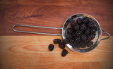 Small Strainer with Blackberries