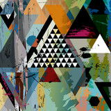 abstract art illustration, triangles,vector format