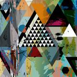abstract art illustration, triangles,vector format