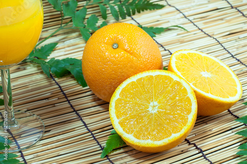 Sliced orange fruit segments