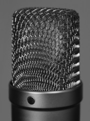 Large studio vocal microphone