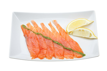 Fresh uncooked salmon fillet