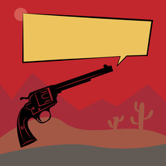 Abstract western background, vector illustration
