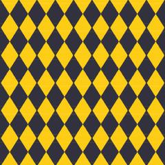 Tuch mit gelben und schwarzen Karomuster