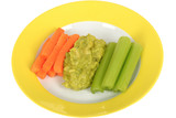 Vegetables with Guacamole