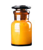 medicine cosmetics glass bottle