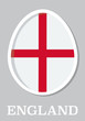 sticker flag of England in form of easter egg