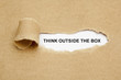 Leinwanddruck Bild - Think Outside The Box Torn Paper