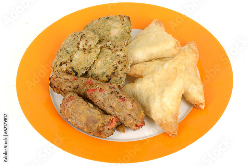 Indian Samosa Snack Food