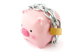 Piggybank chained up and locked