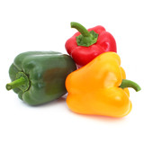 Poivrons - Green, red and yellow peppers