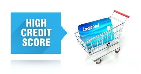 High credit score with shopping cart
