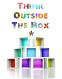 Think outside the box with colorful 3d design