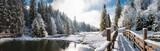 Fototapety Панорама зимним утром в Карпатах