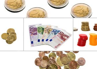 collage, money