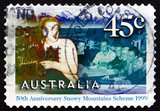 Postage stamp Australia 1999 English Class for Migrant Workers poster