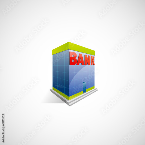 Bank building illustration for any web or print usage