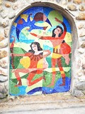 Mosaic architecture decoration poster