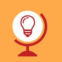 on the globe light bulb