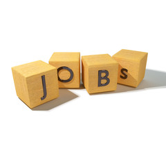 Würfel mit Jobs