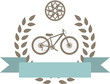 bike badge coat of arms vector