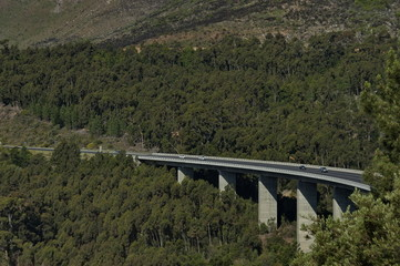 Highway viaduct by Boland Mountain