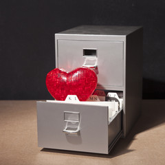 File Cabinet and Heart