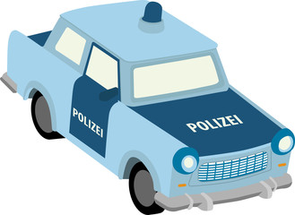 Vector illustration of east german police car