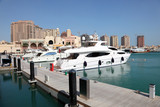 Luxury marina in Porto Arabia. Doha, Qatar, Middle East