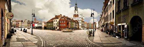 Deurstickers Kasteel Poznan Market Panorama