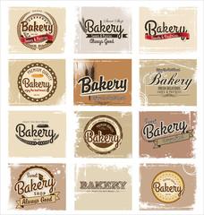 vintage retro bakery labels