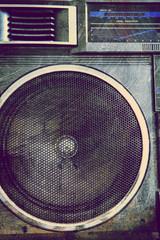 grunge stereo speaker