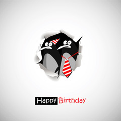 Happy Birthday penguin smile  funny greetings