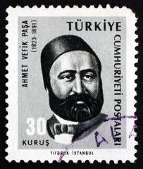 Postage stamp Turkey 1965 Ahmet Vefik Pasha, Playwright