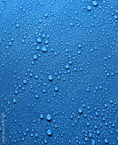 the sea of blue water drops