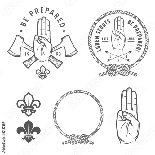 Scout symbols and design elements