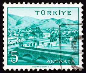 Postage stamp Turkey 1958 View of Antakya