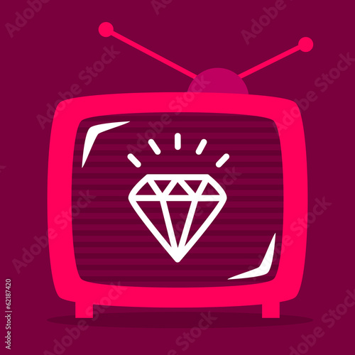 retro television shows on the screen diamond