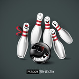 Happy Birthday smile bowling