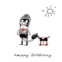 Happy Birthday smile boy pilot