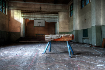 Abandoned school - sports hall (HDR version)